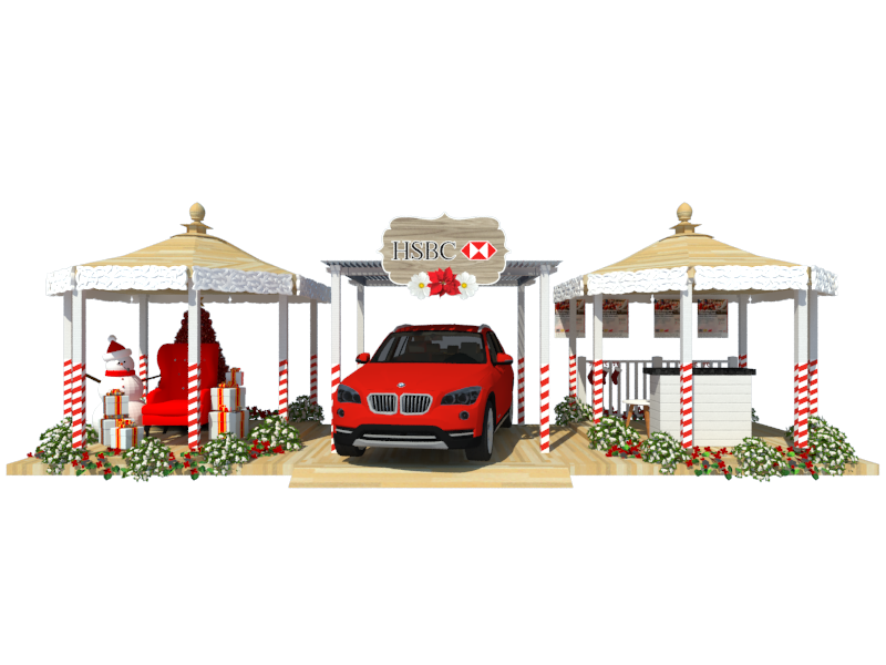 Holiday Pavilion Booth Design