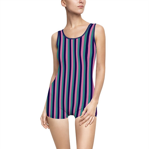 Striped Fellowship Vintage Swimsuit