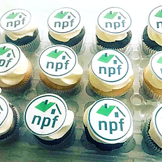 Corporate Branded Cupcakes