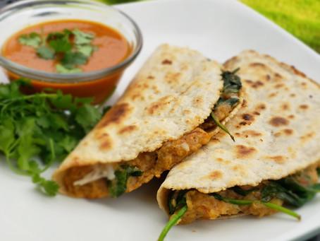 Potato & Spinach Quesadillas with Sumac