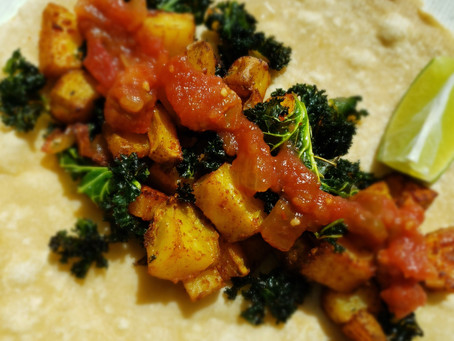 Potato & Kale Breakfast Tacos