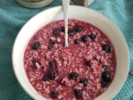Wild Blueberry Oatmeal