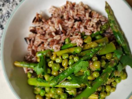 Asparagus & Wild Rice Bowls