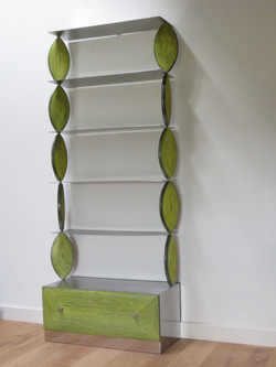 Shelves with draw