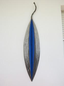 Blue painted leaf
