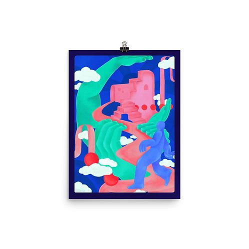 """12"""" x 16"""" Explore No.4 Poster"""