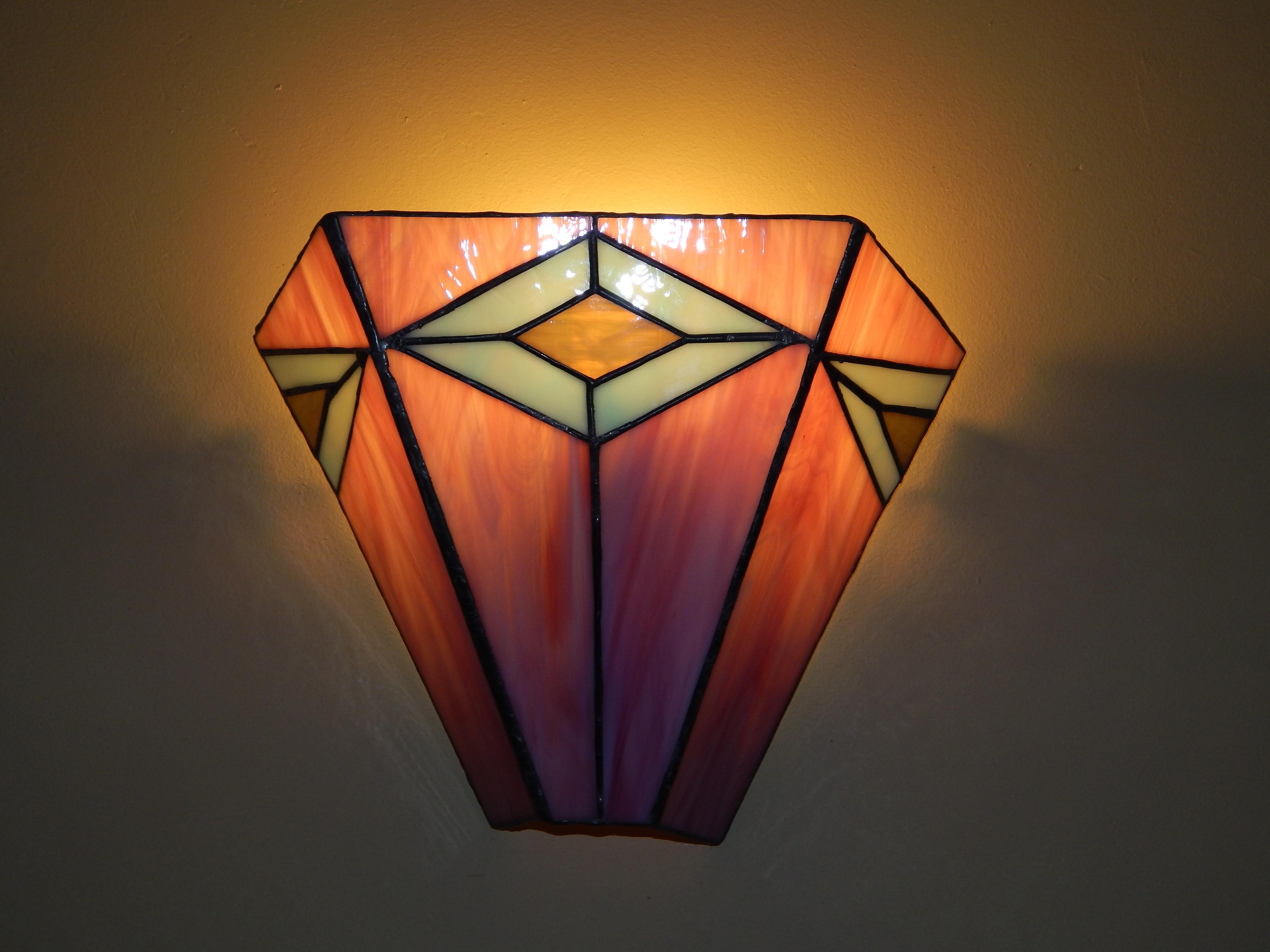 Candeeiro Vitral Tiffany Aplique 13