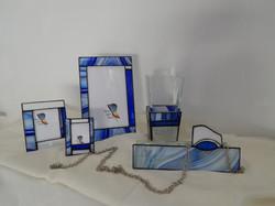 Conjunto Vitral Azul Barroco