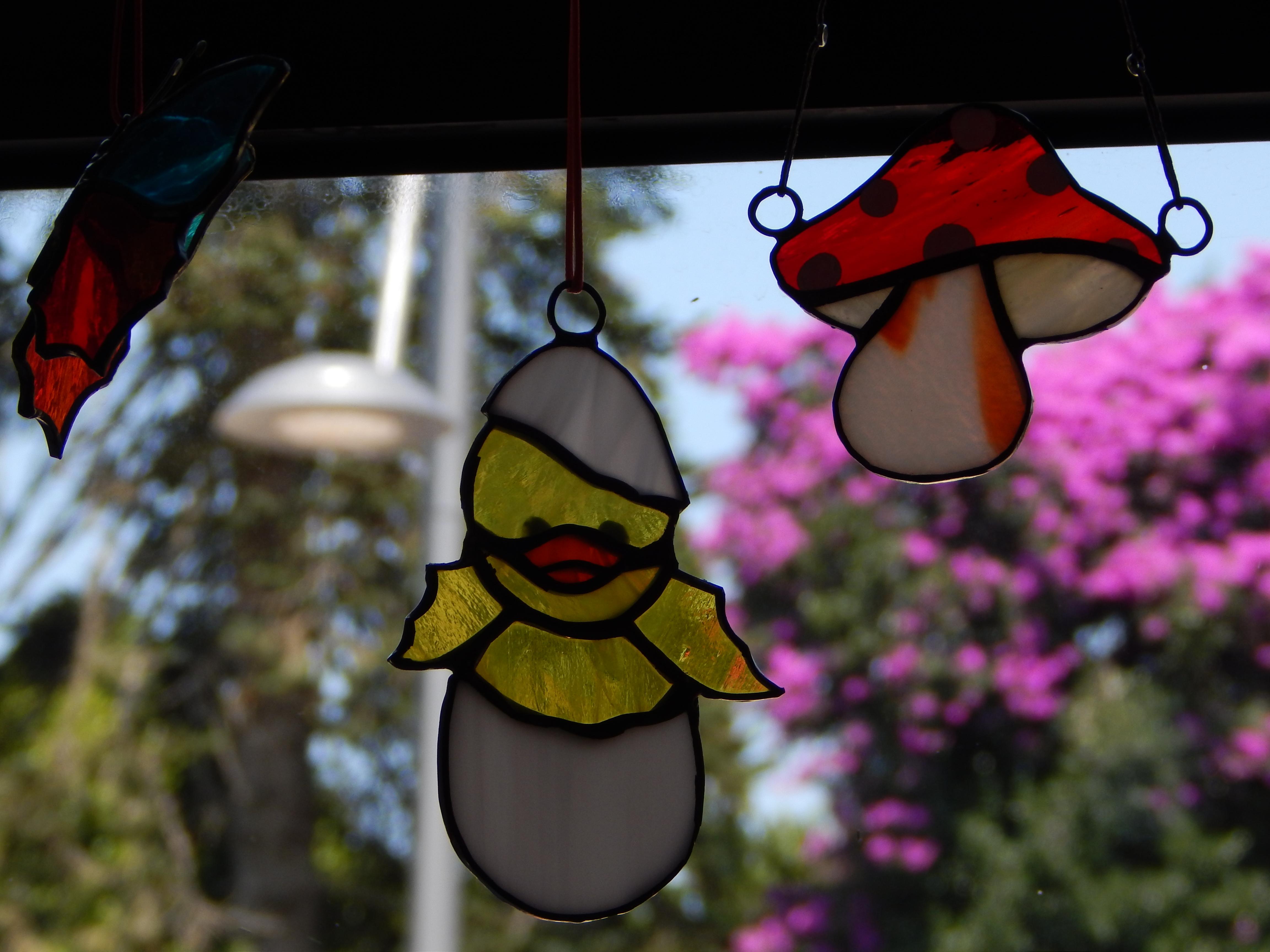 Cogumelo Vitral & Pintainho Vitral