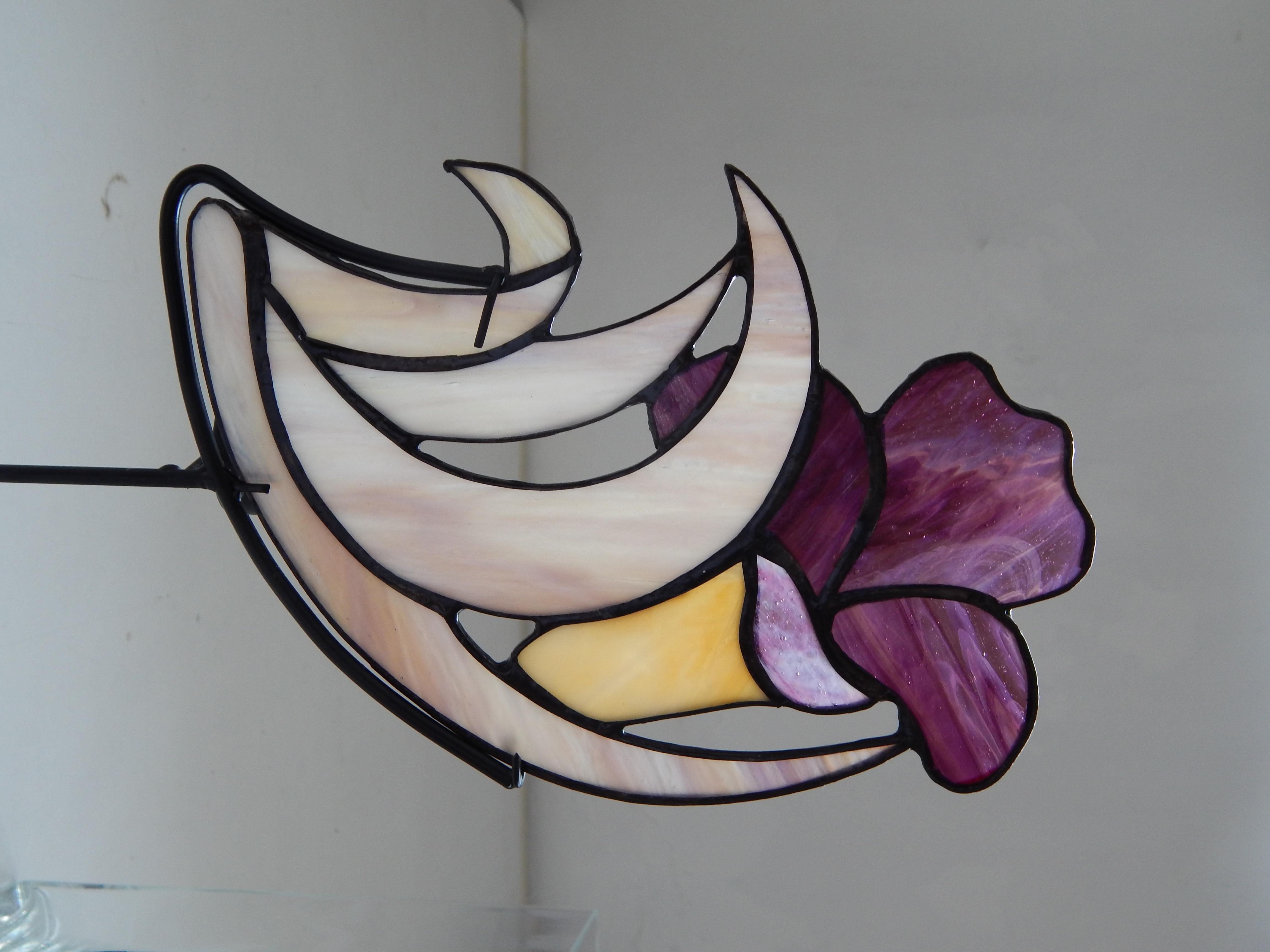 Porta-Velas Vitral Tulipa