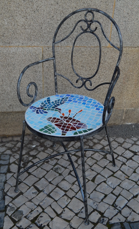 Cadeira Vitral Pássaros