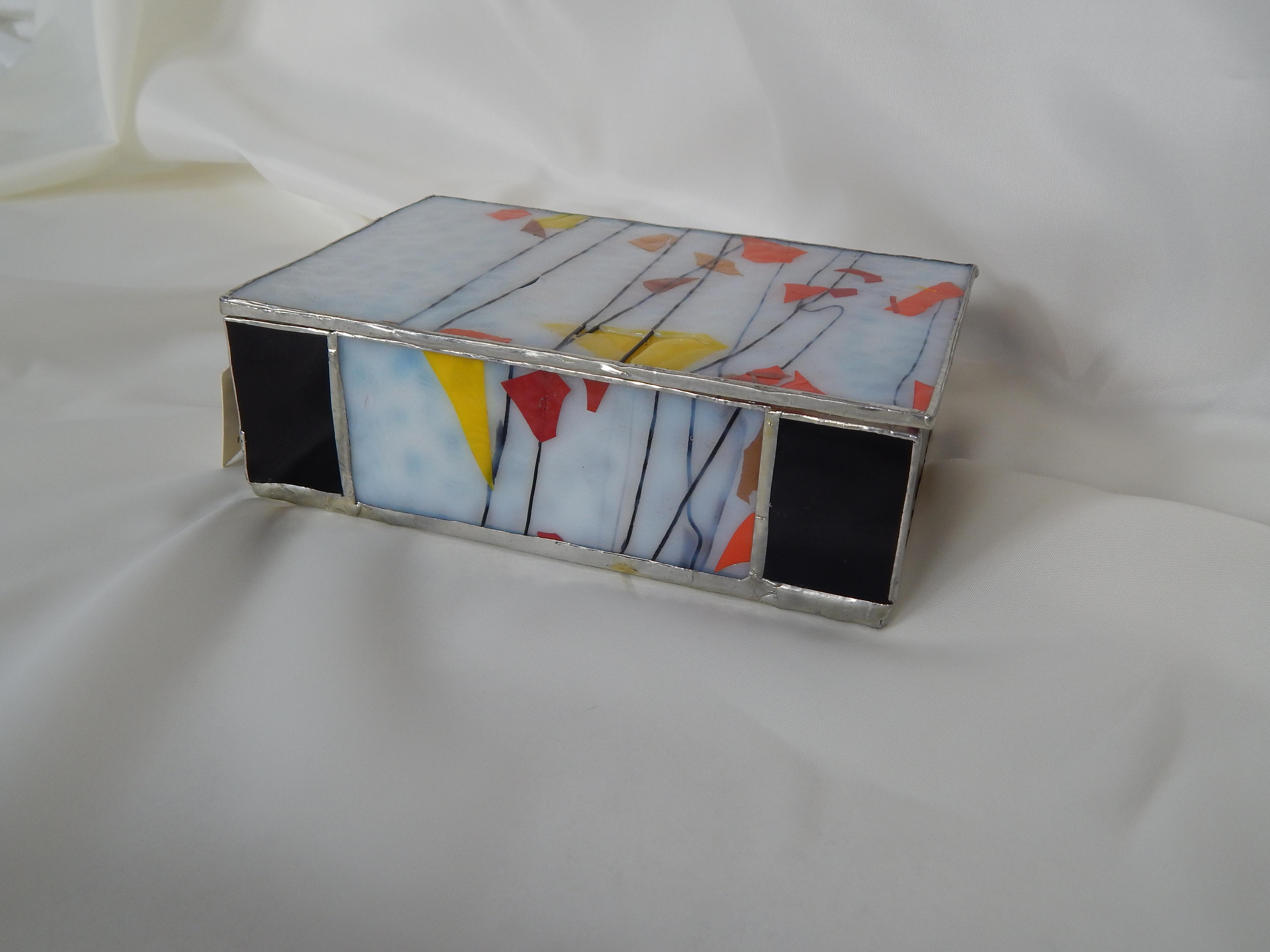 Caixa Diamante Negro Vitral