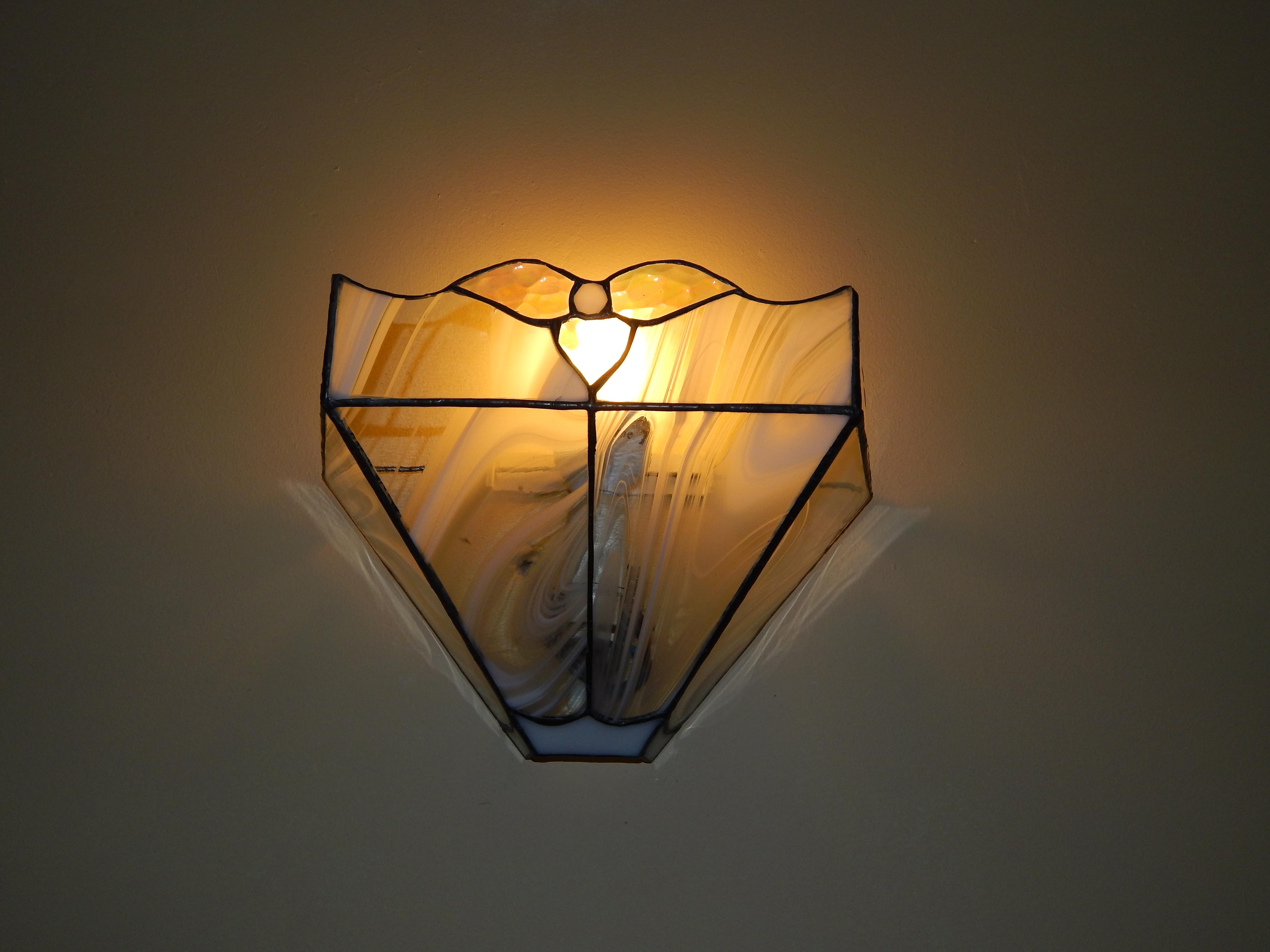 Candeeiro Vitral Tiffany Aplique 12