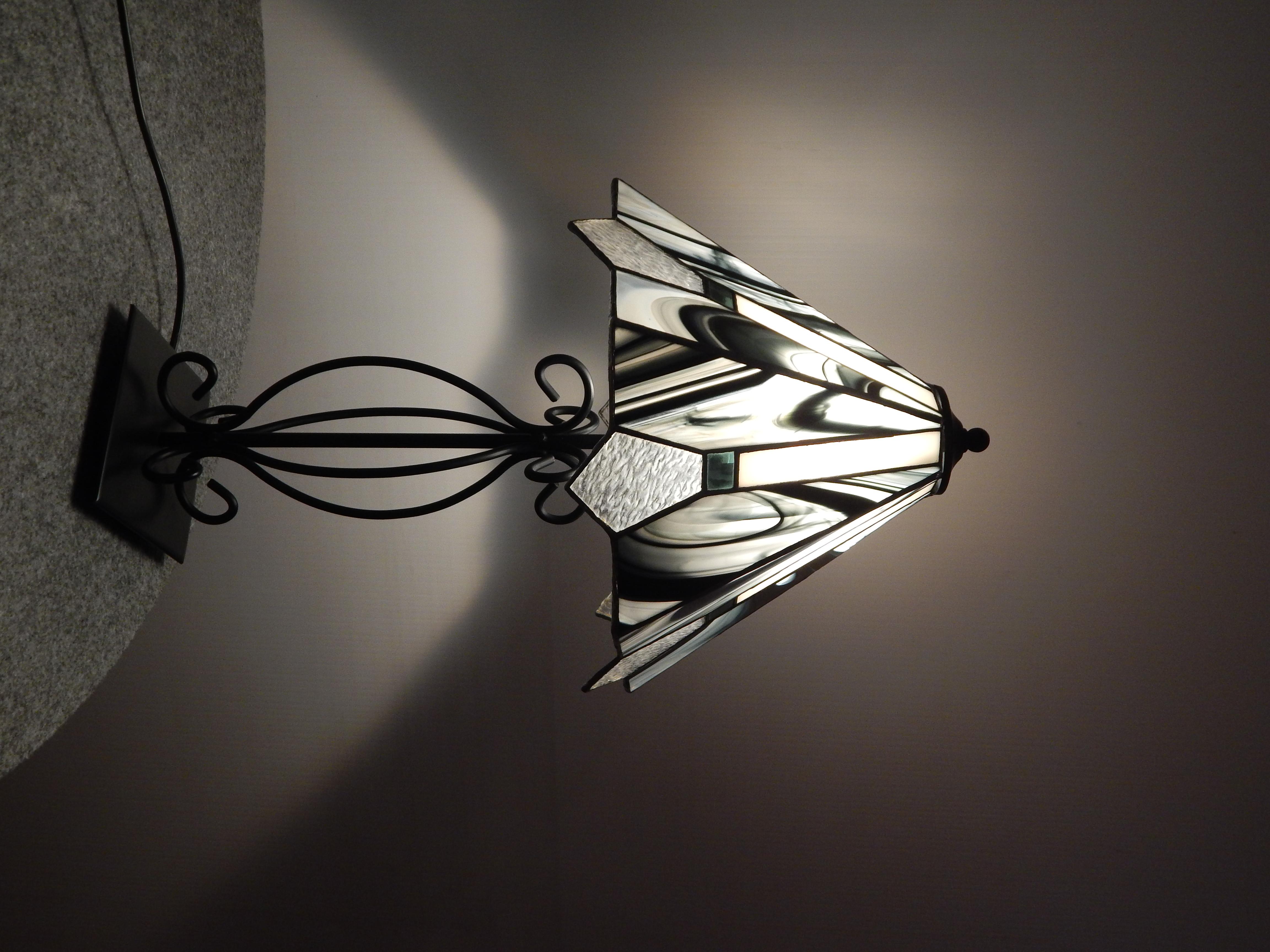 Candeeiro Tiffany Preto