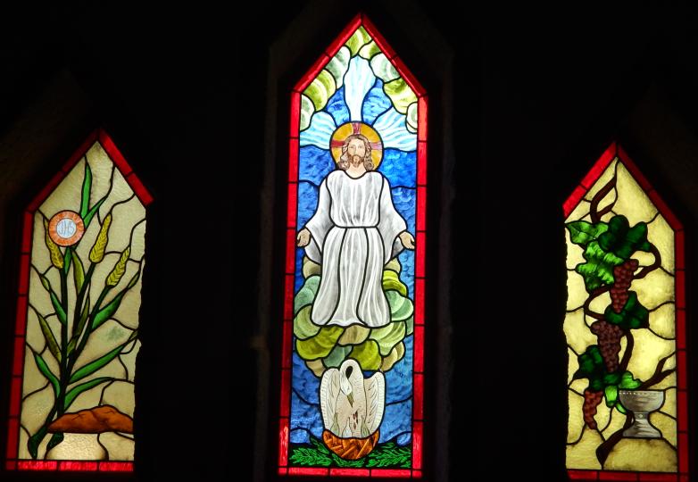 Vitral Triplico Eucaristia