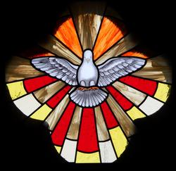 Vitral Pomba Espirito Santo