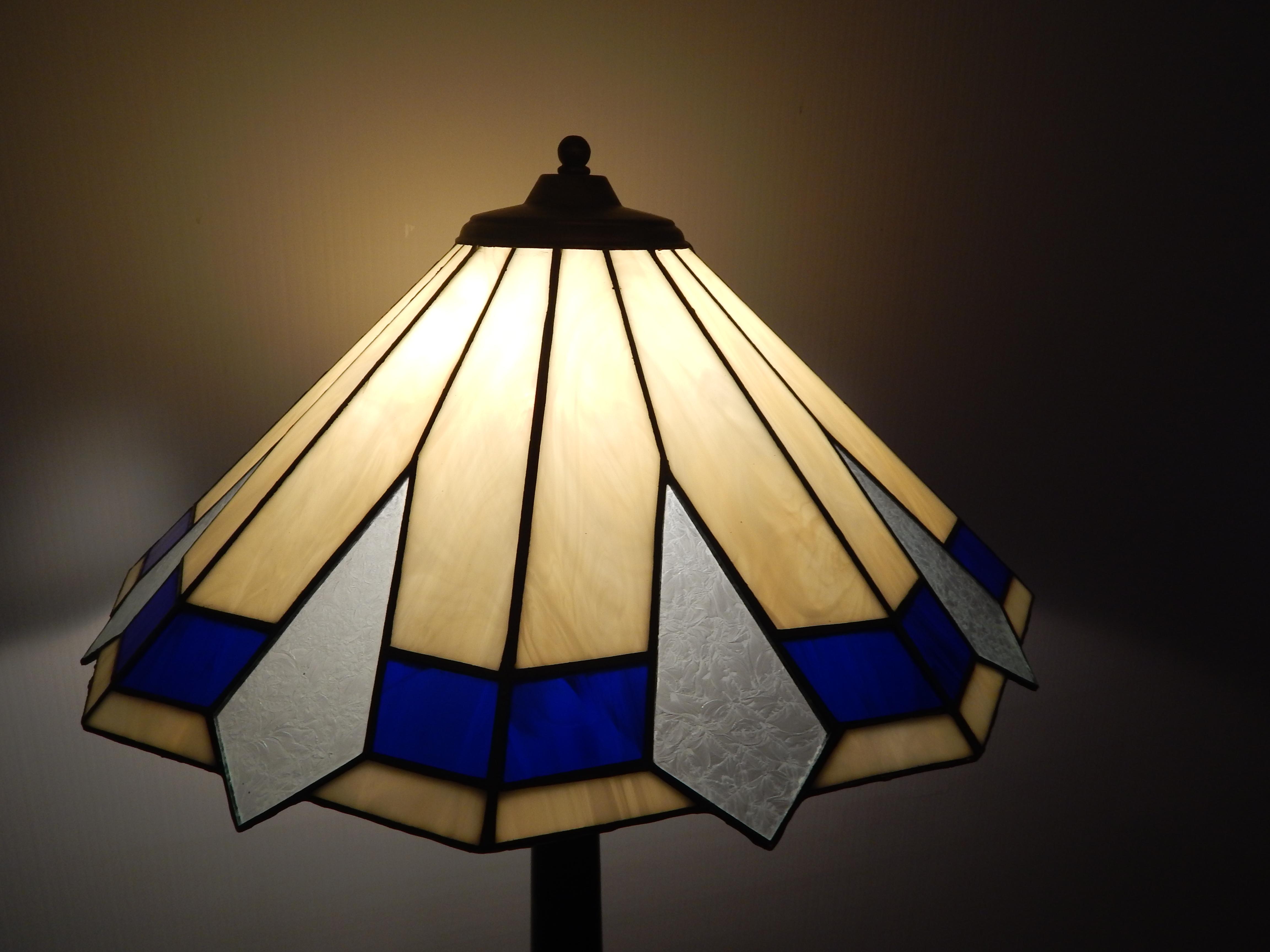 Candeeiro Tiffany Azul