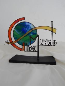 Escultura Vitral Giro Mundo
