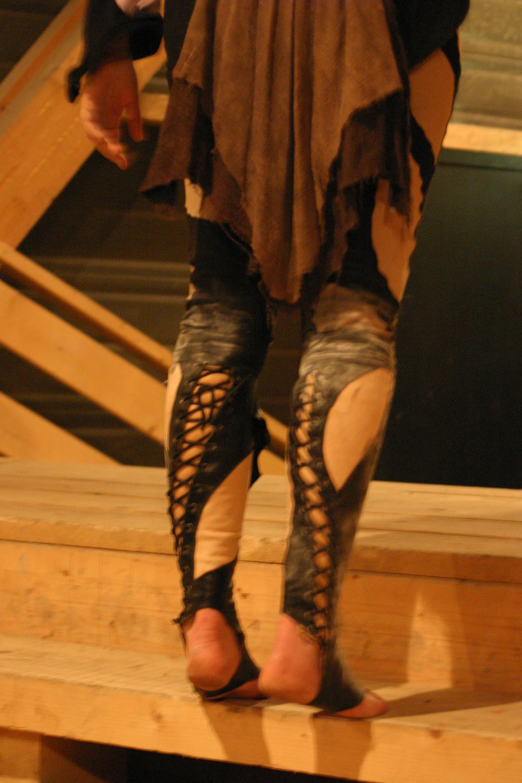 Guêtre et costume de trapèziste
