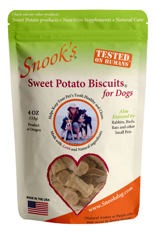 Sweet Potato Dog Biscuits [small, bite-size] - 4 oz
