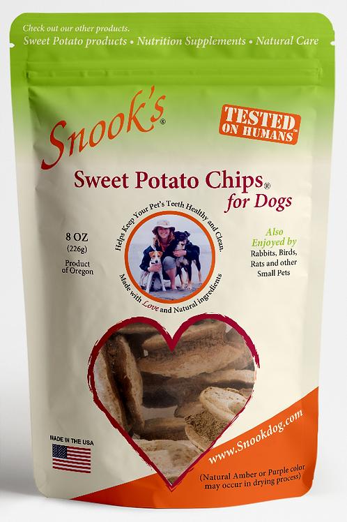 Sweet Potato Dog Chips [soup bone shaped]