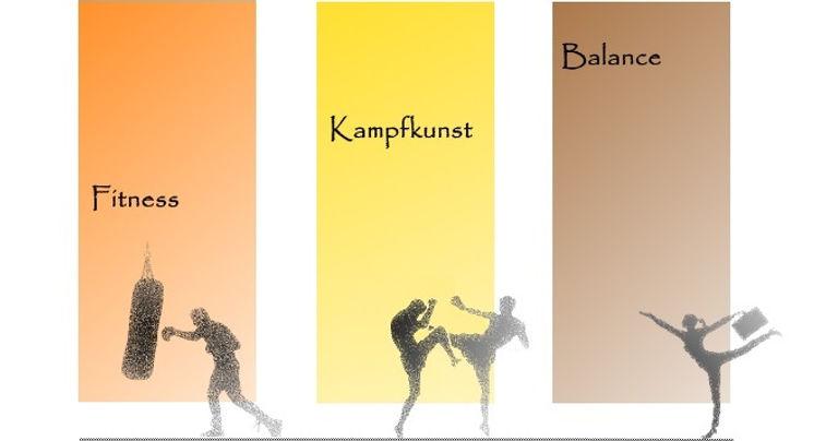 Fitness Kampfkunst Kickboxing Fitboxen Balance