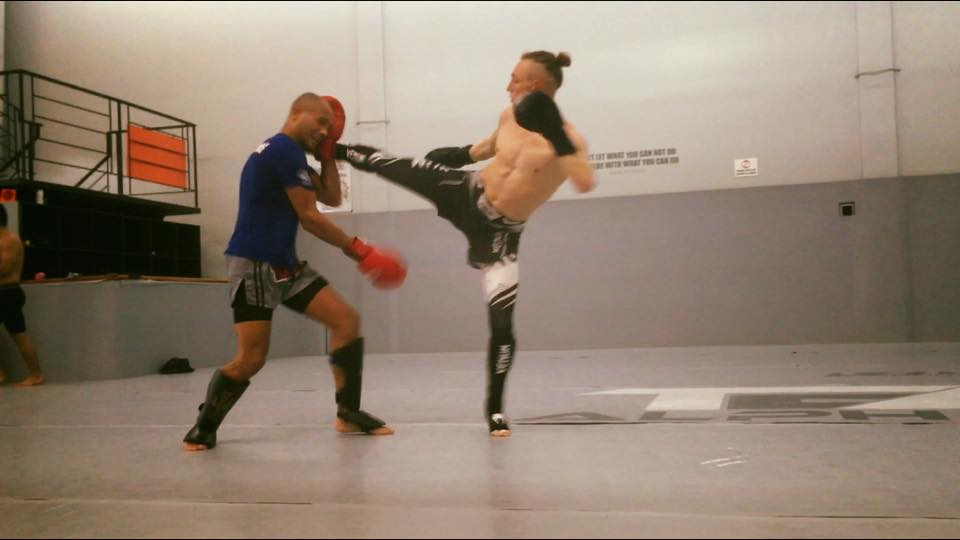 Sparring in Sacramento