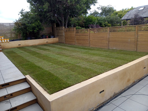 Lawn and walling