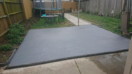 Concreted base