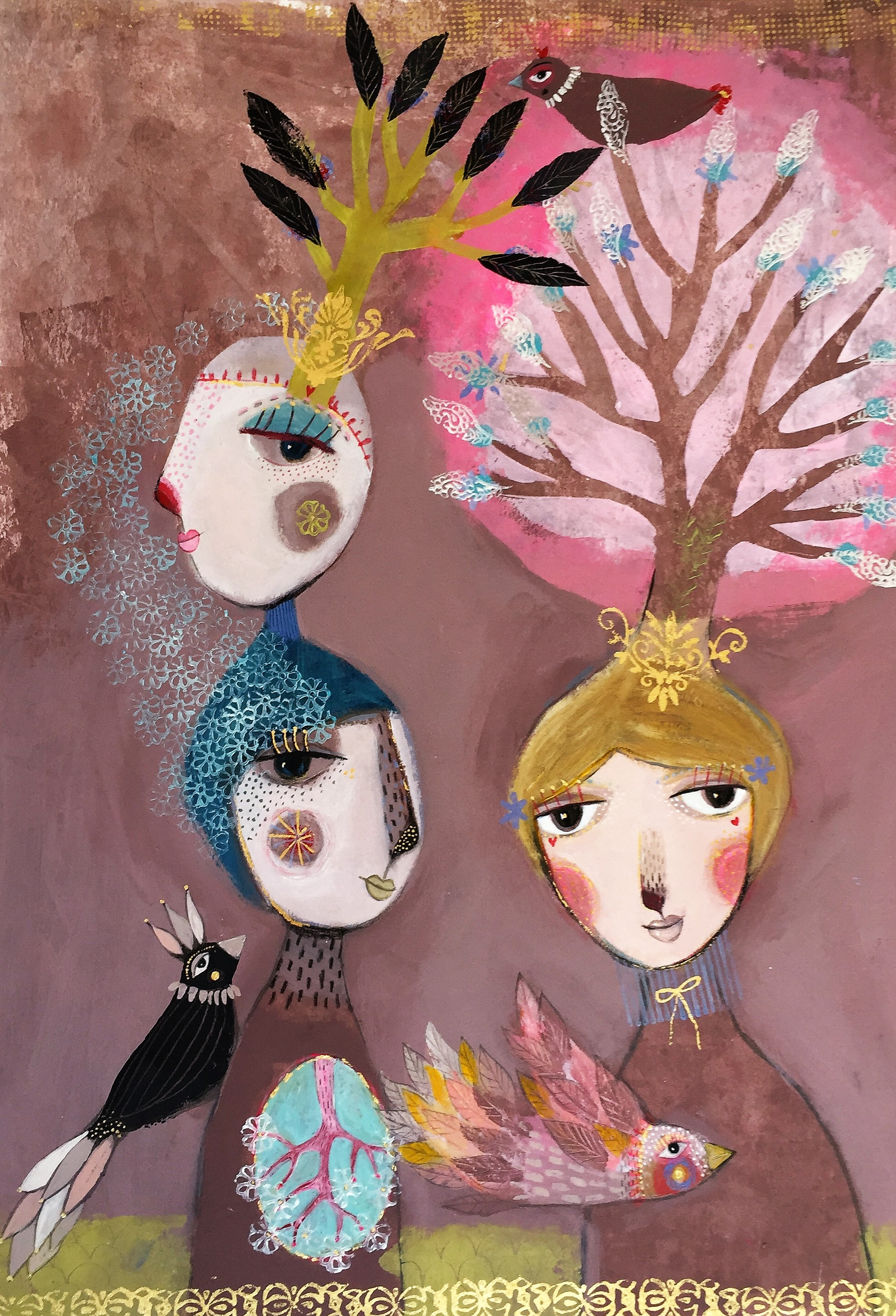 3 fåglar