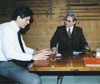 Aikido Journal Editor Stanley Pranin interviewing Nishio Sensei in 2003