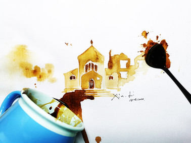A15 | Coffee Drawing: St Edmund's College Chapel