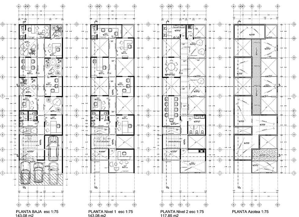 Tecamachalco // Oficinas de uso mixto con Roof-Garden