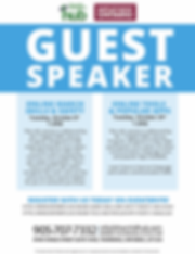 Flyer- Guest Speaker- October 8th and 24
