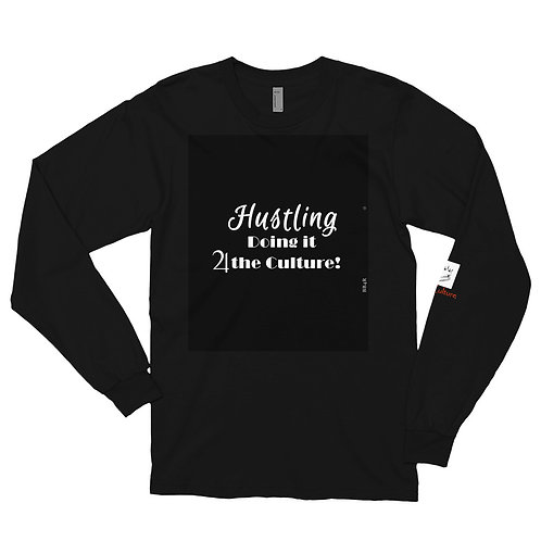 Bad & Bougee 4Real HUSTLING GANG GANG Long sleeve t-shirt for men