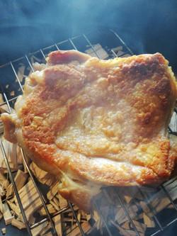 桧燻製チキンのチーズ鉄弁