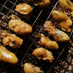 ヒノキ燻製牡蠣