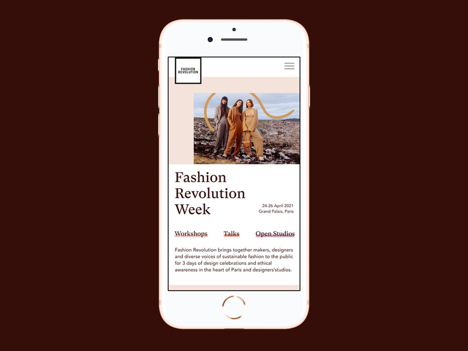 UX-UI | FASHION REVOLUTION