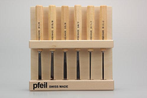 Pfeil D 6er - Carving tools Set