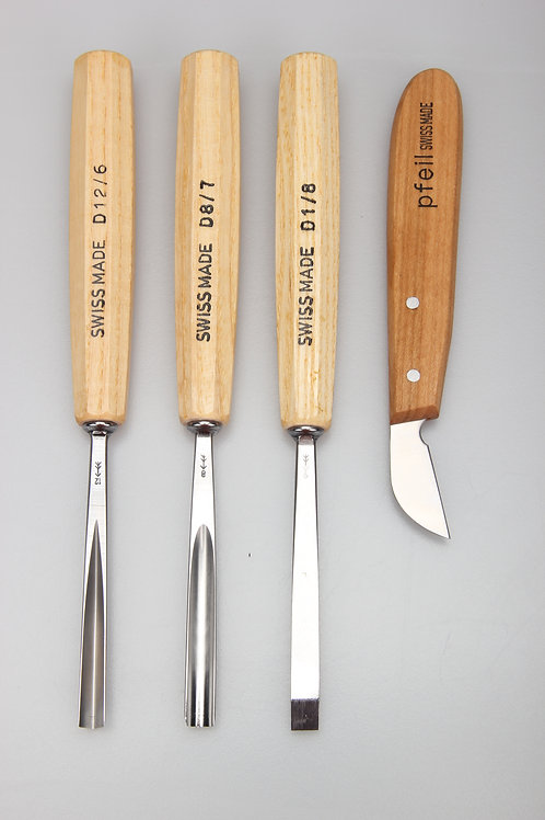 Pfeil D 4er - Starter set chisels and knife