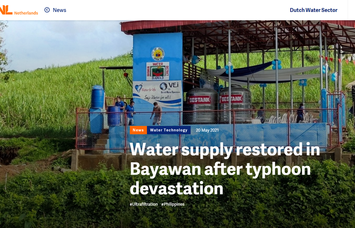 Water supply restored in Bayawan after typhoon devastation