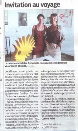"""article dans """"sud ouest"""" aout 2015"""