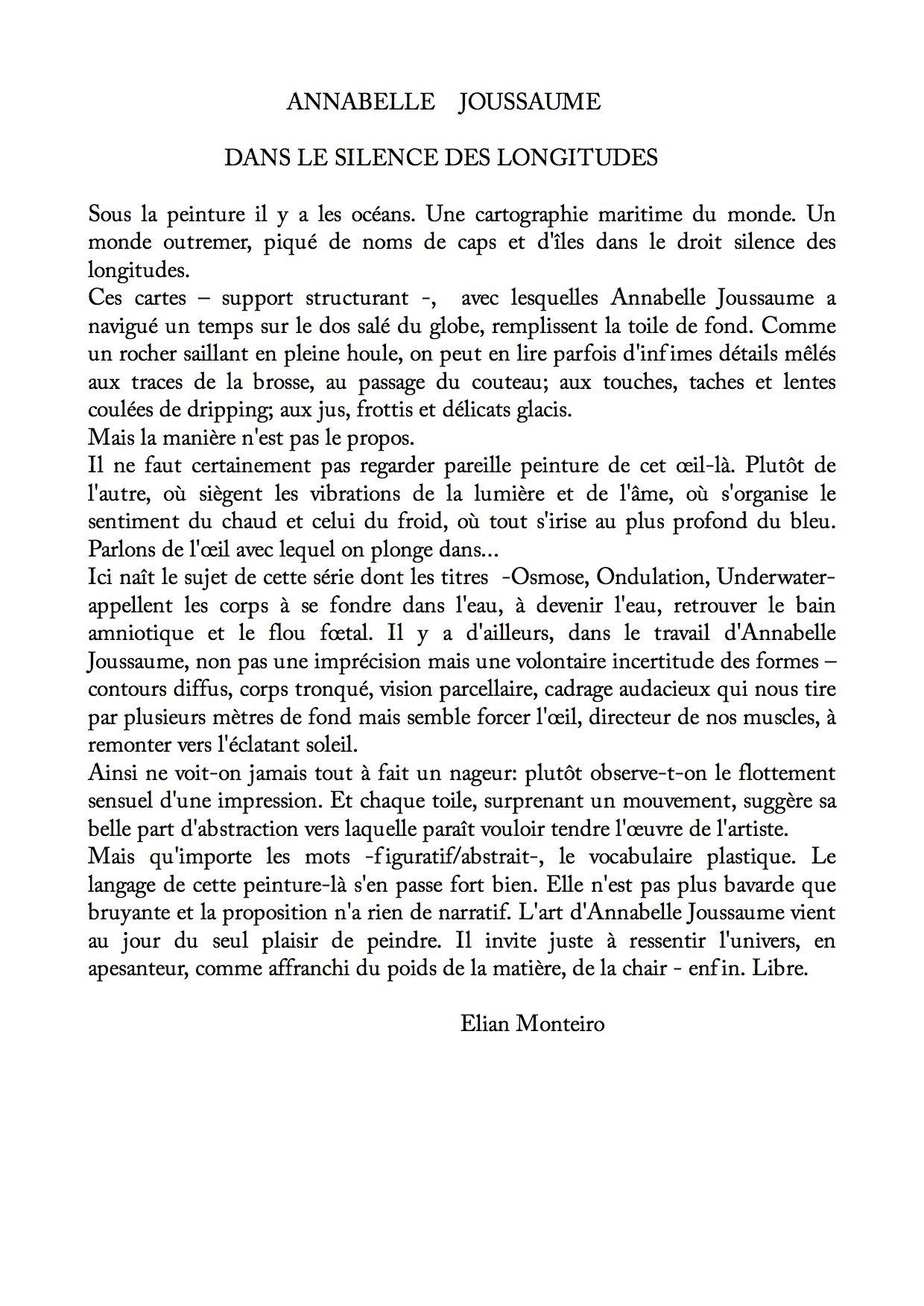 texte d Elian Montero