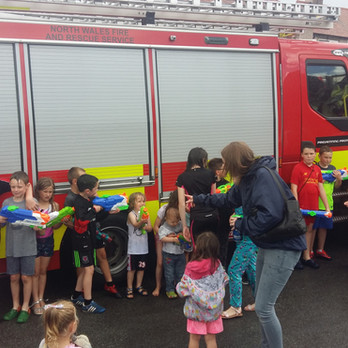 Rhyl Fire Service put in an appearance!