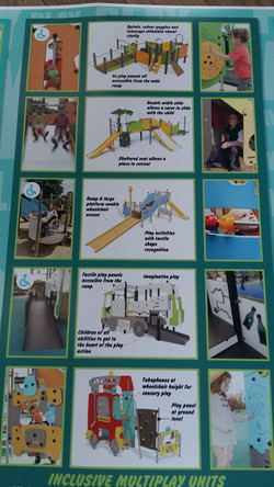 Inclusive wheelchair accessible play