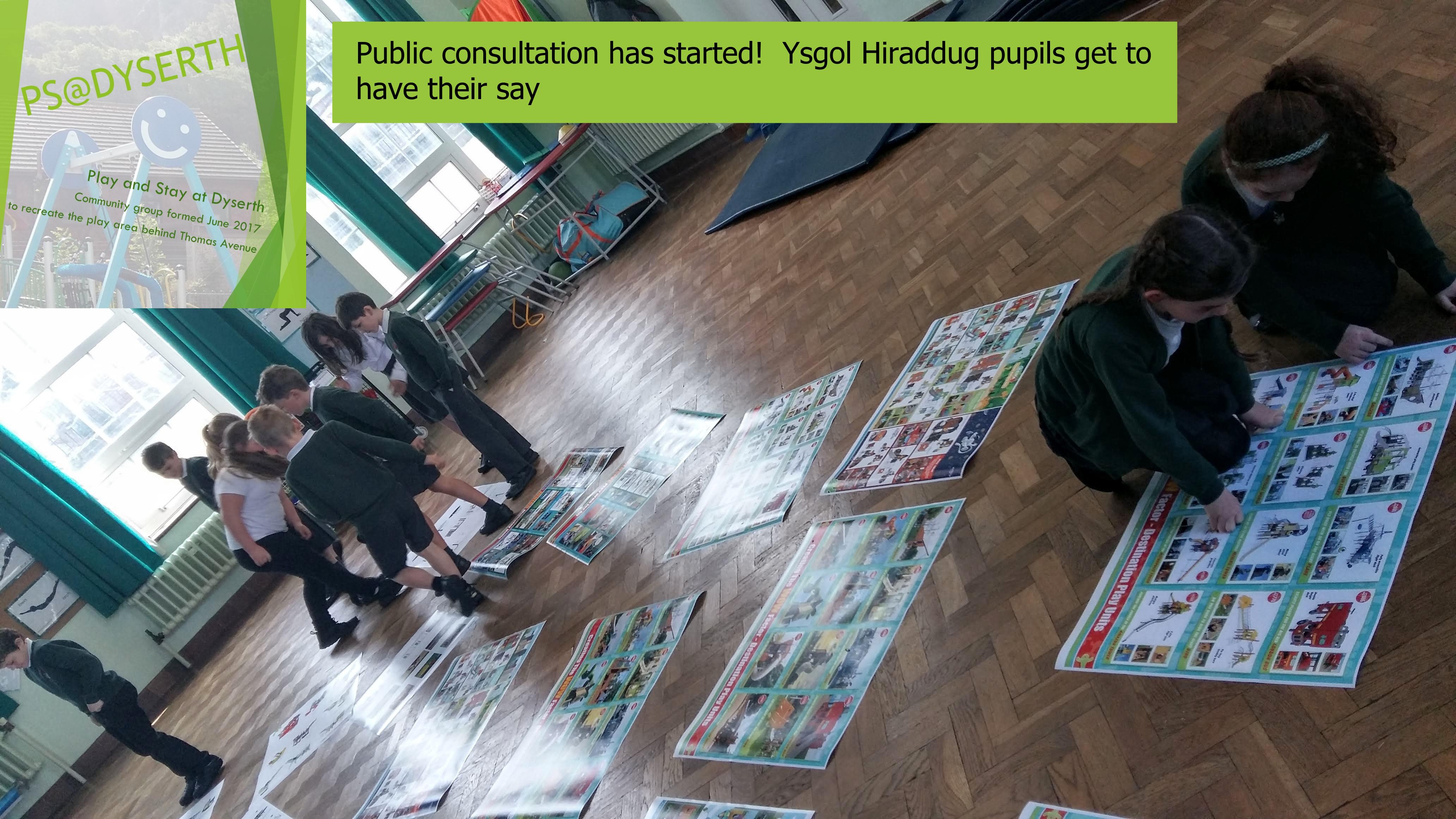 Public Consultation at Ysgol Hiraddug