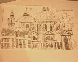 Sketch for Gondoliers Backdrop
