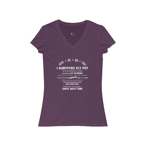Fly FIIT Women's Jersey Short Sleeve V-Neck Tee
