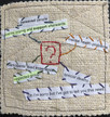 Untangling the threads: Using a stitched reflective journal to make sense of things.