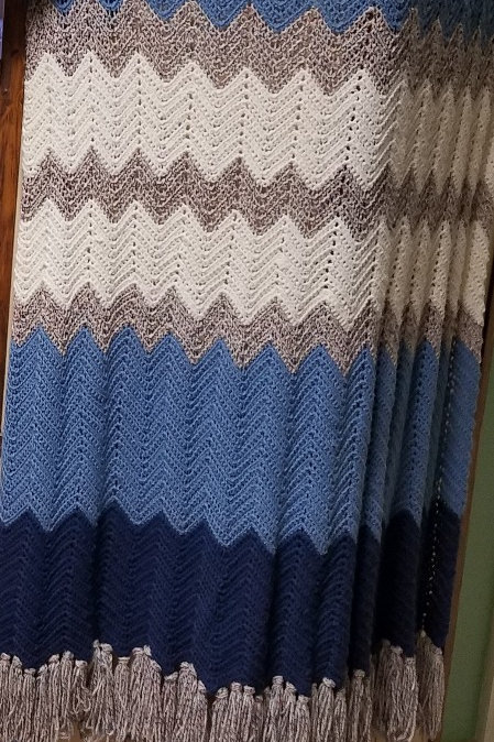 Chevron Ripple Afghan